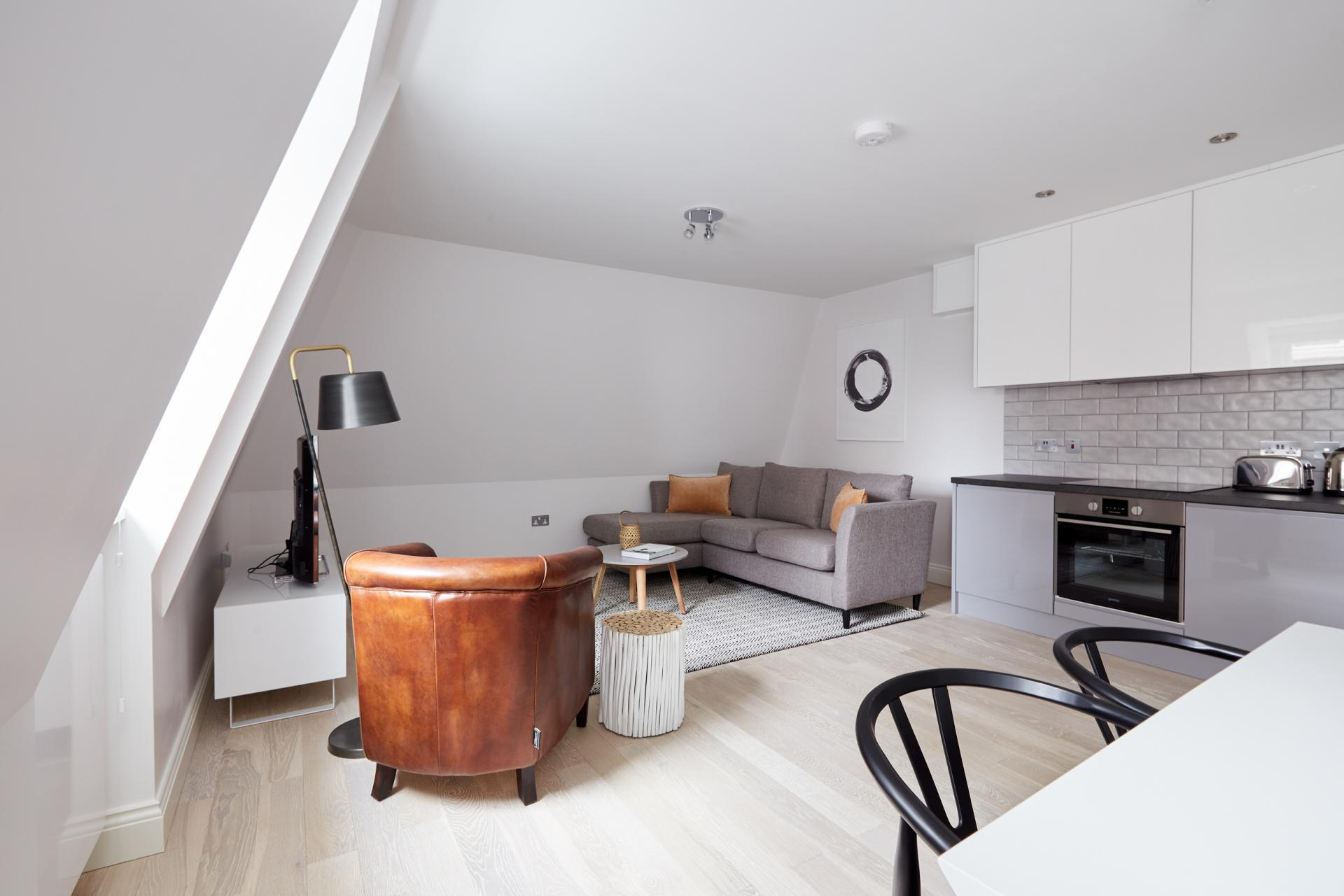 Open-plan at Virginia House Apartments, Fitzrovia, London - Citybase Apartments