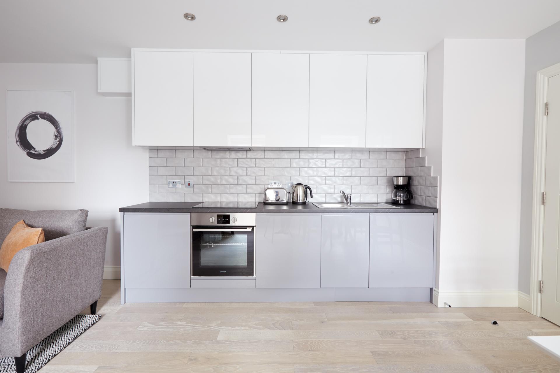 Kitchen at Virginia House Apartments, Fitzrovia, London - Citybase Apartments