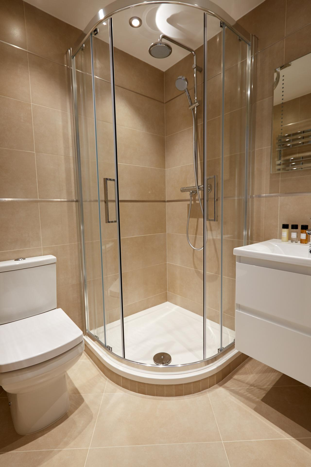 Shower at Virginia House Apartments, Fitzrovia, London - Citybase Apartments