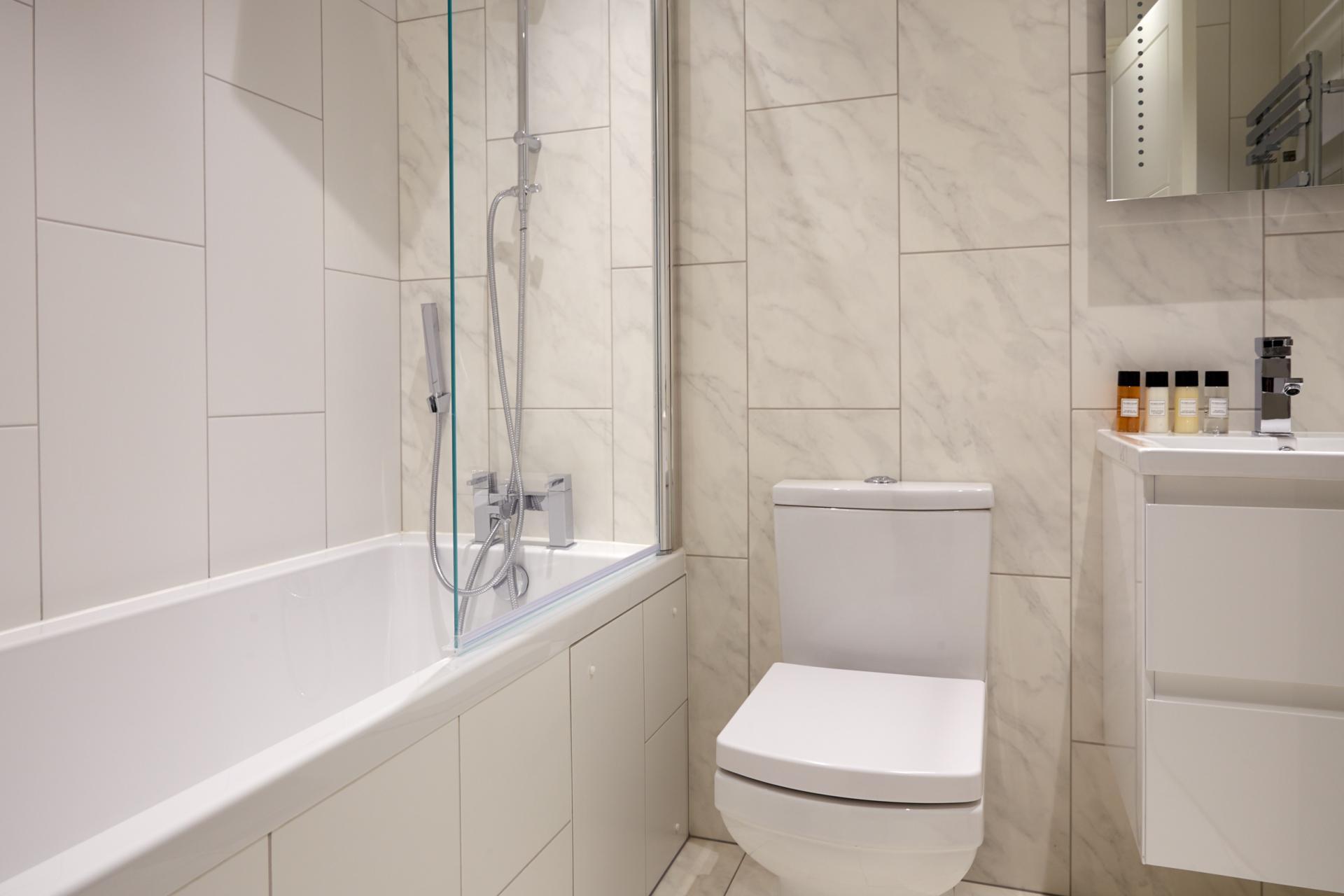 Bathroom at Virginia House Apartments, Fitzrovia, London - Citybase Apartments