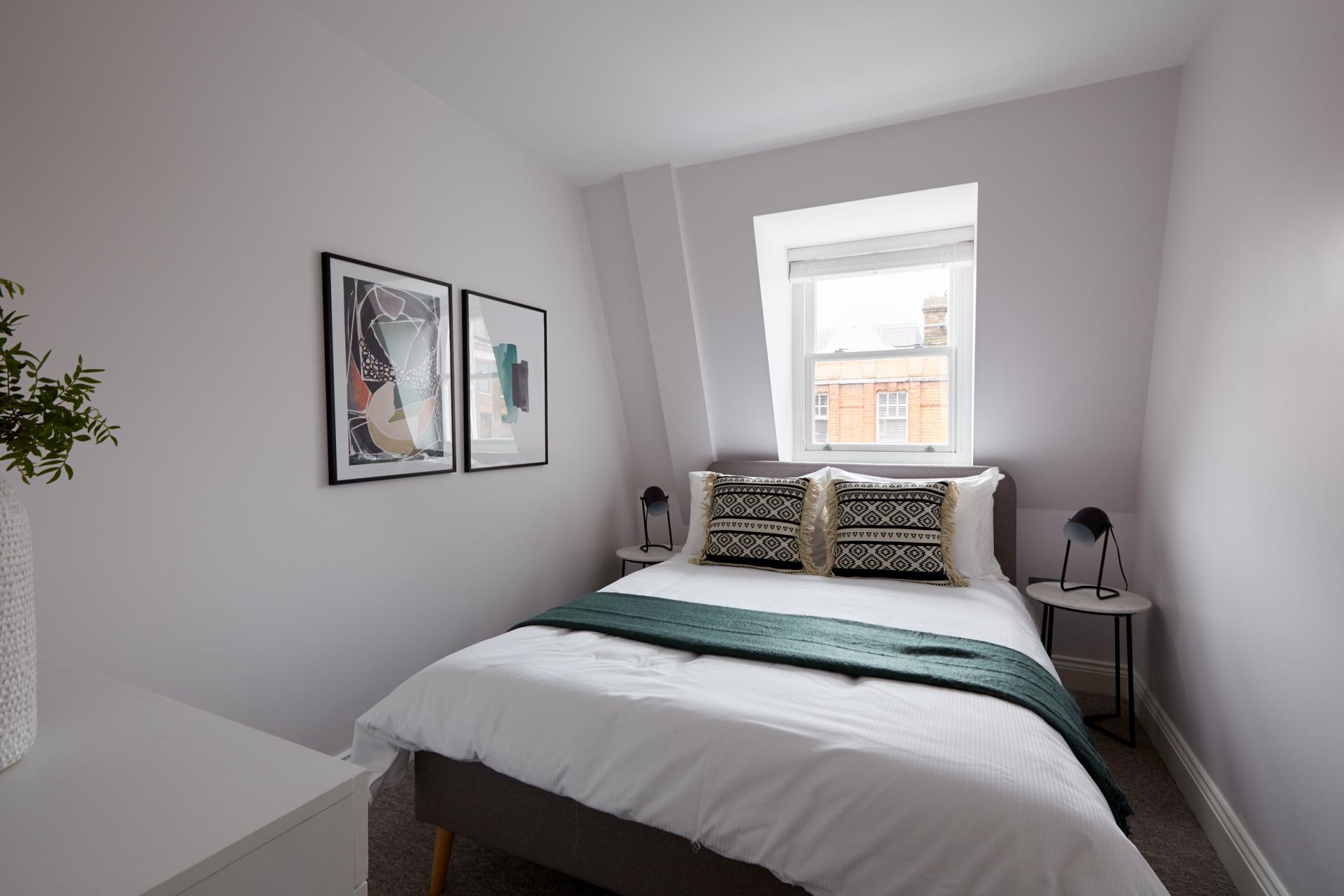 Cushions at Virginia House Apartments, Fitzrovia, London - Citybase Apartments