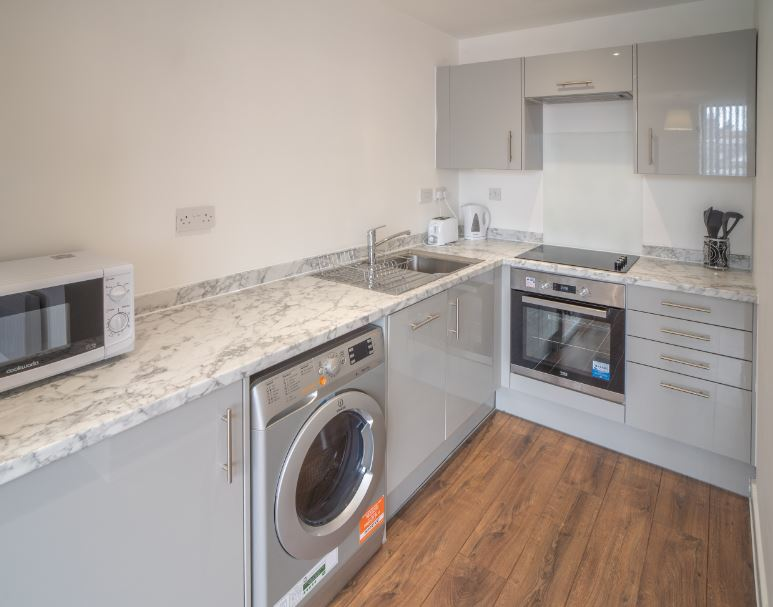 Kitchen at Dream Apartments Silkhouse Court, Centre, Liverpool - Citybase Apartments