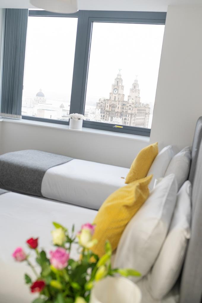 Twin beds at Dream Apartments Silkhouse Court, Centre, Liverpool - Citybase Apartments