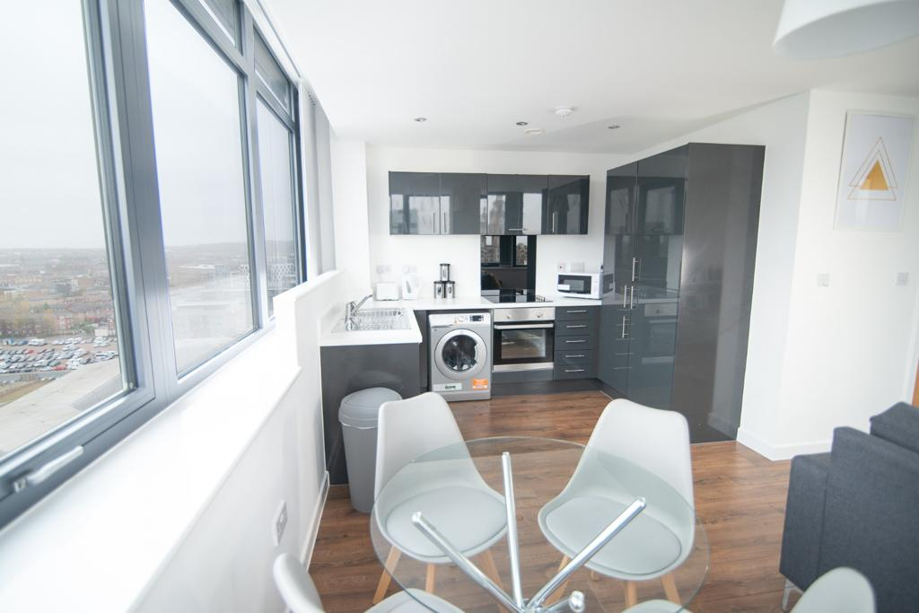 Table and chairs at Dream Apartments Silkhouse Court, Centre, Liverpool - Citybase Apartments
