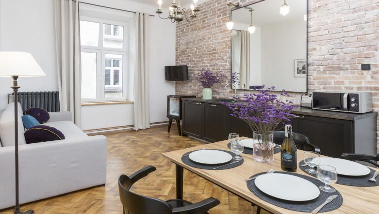 Dining area at Antique Apartments - Citybase Apartments