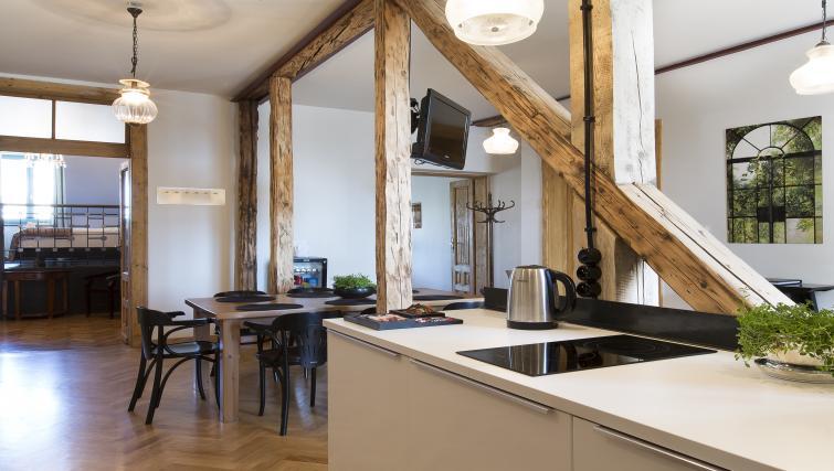 Open plan kitchen at Antique Apartments - Citybase Apartments