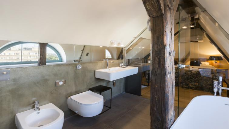 Modern bathroom at Antique Apartments - Citybase Apartments