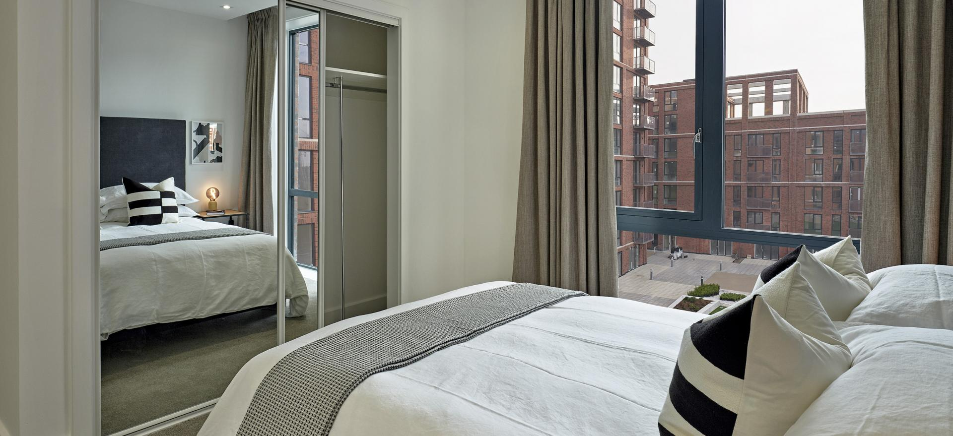Bedroom at Manchester Media City Apartments By Charles Hope - Citybase Apartments