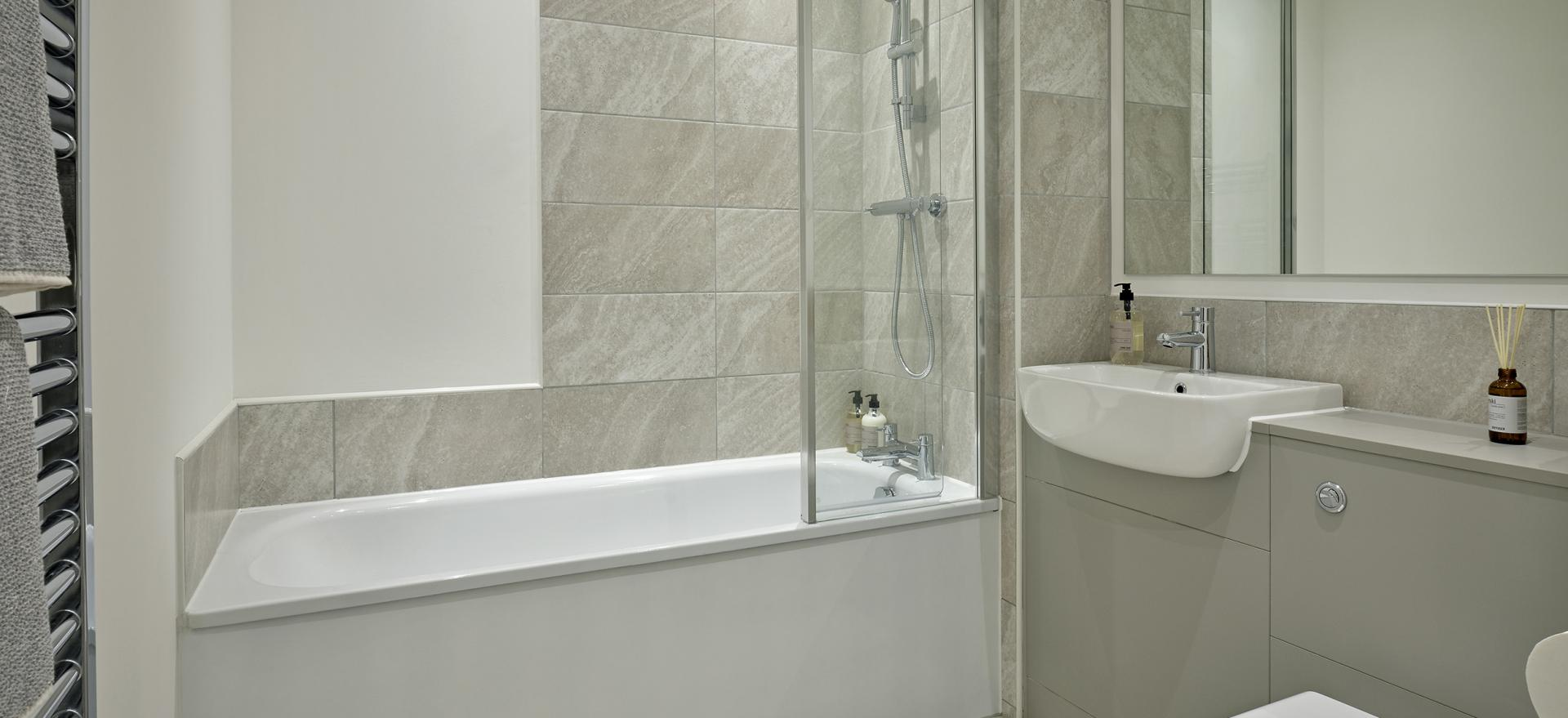 Bathroom at Manchester Media City Apartments By Charles Hope - Citybase Apartments