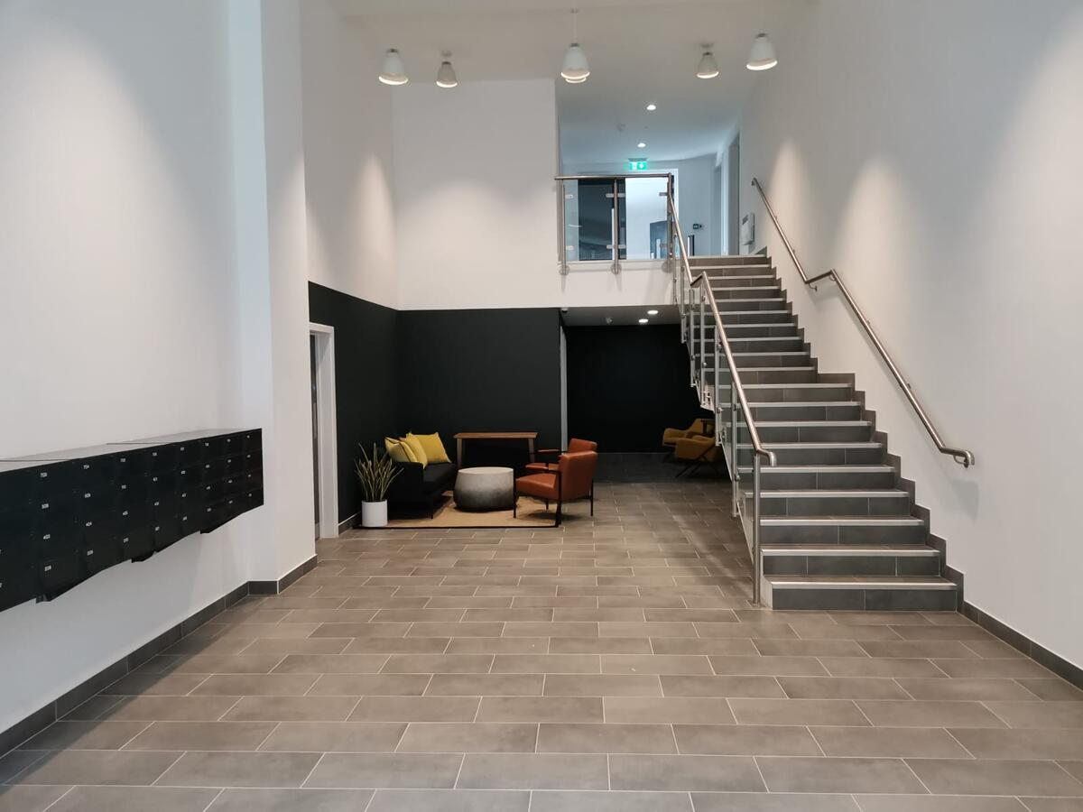 Foyer at Manchester Media City Apartments By Charles Hope - Citybase Apartments