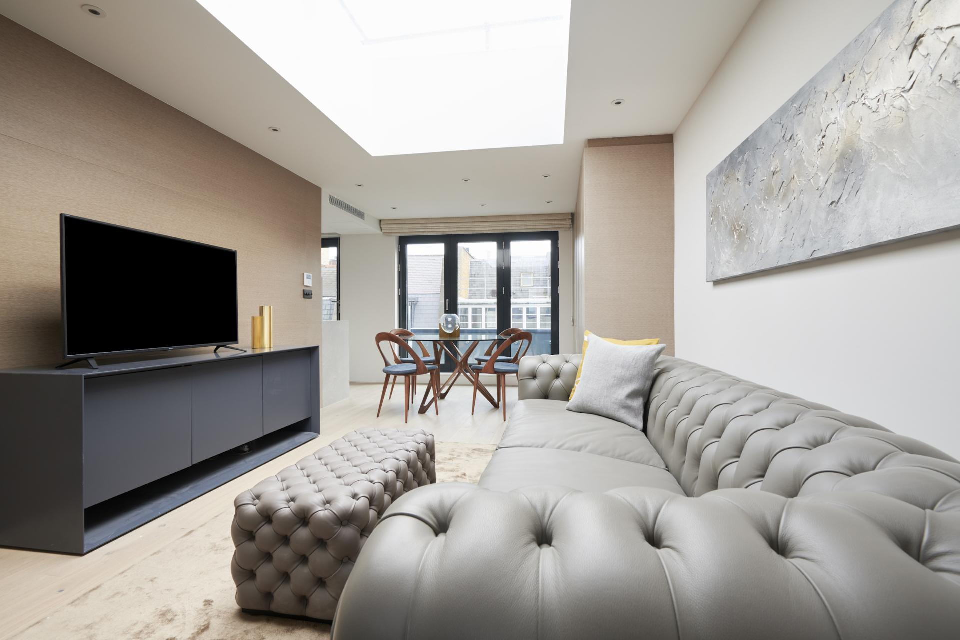 Sofa at Maddox Suites, Carnaby, London - Citybase Apartments