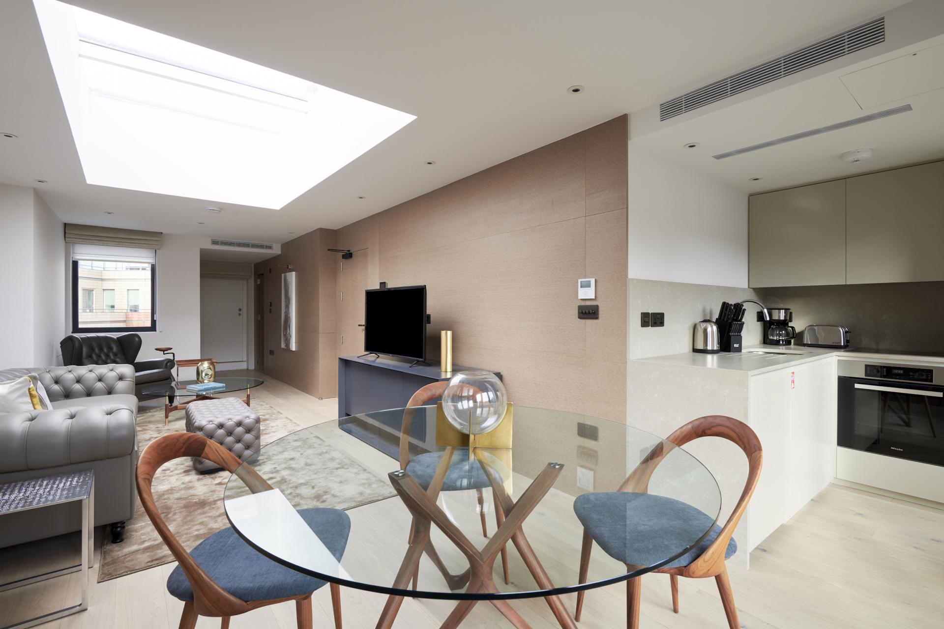 Dining area at Maddox Suites, Carnaby, London - Citybase Apartments