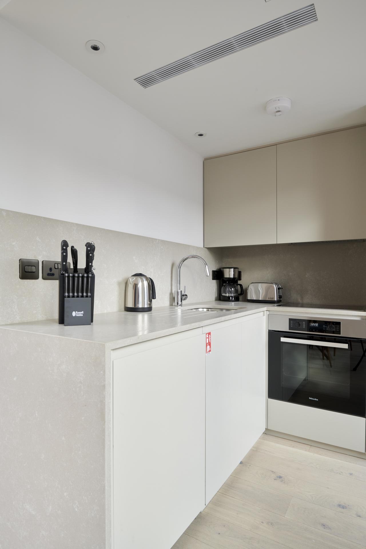 Kitchen at Maddox Suites, Carnaby, London - Citybase Apartments