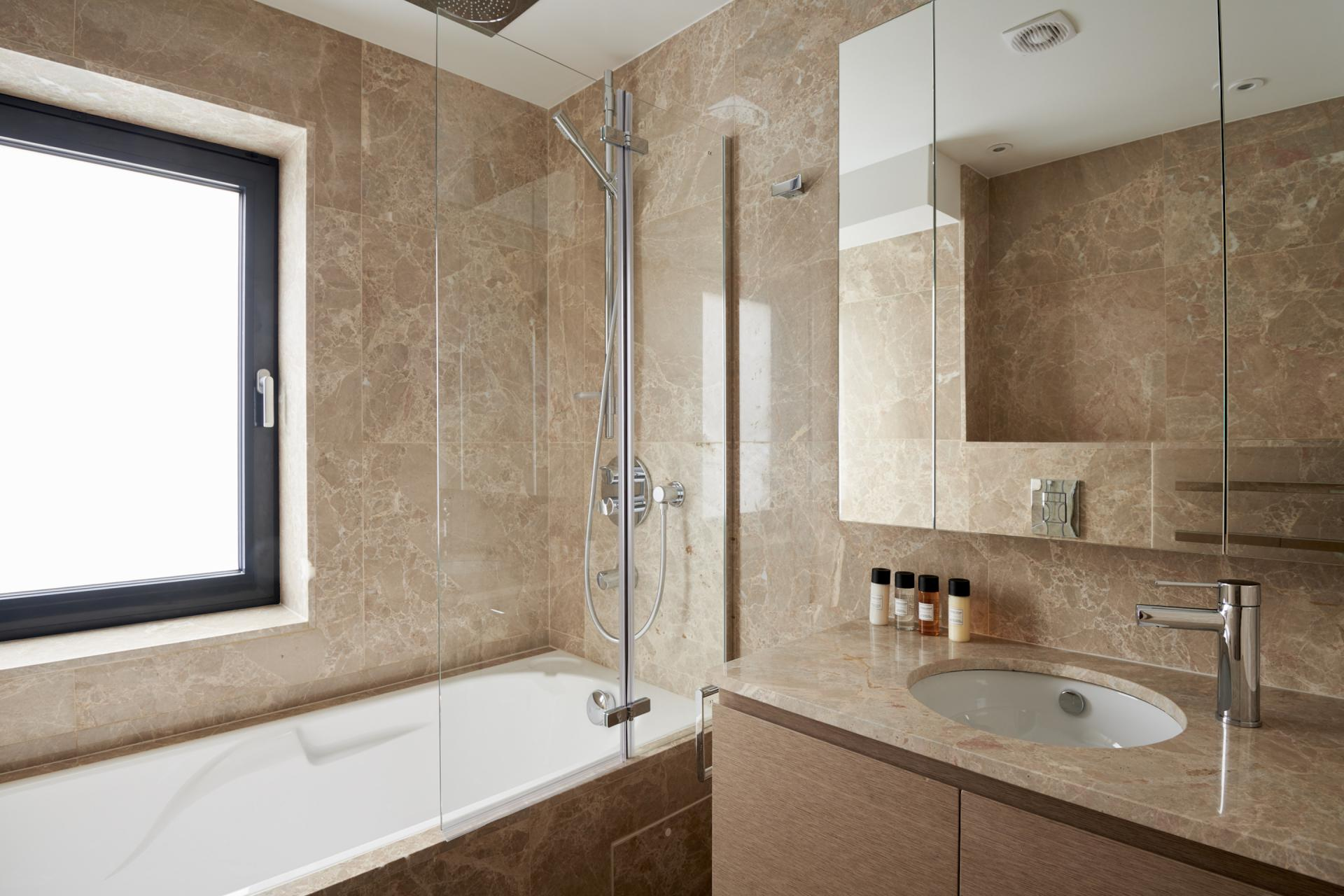 Bathroom at Maddox Suites, Carnaby, London - Citybase Apartments