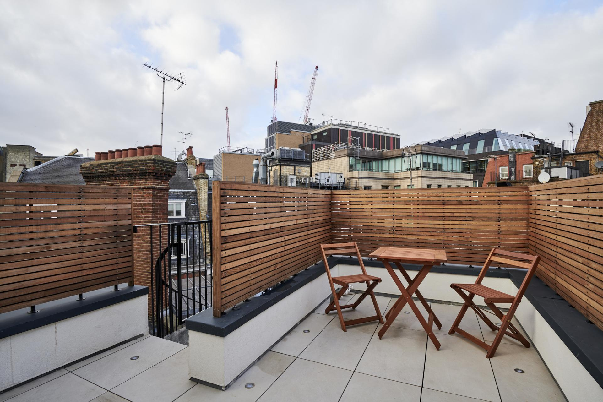 Private terrace at Maddox Suites, Carnaby, London - Citybase Apartments