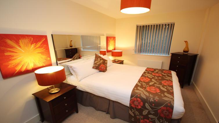 Master bedroom at Merchants Quay Apartments - Citybase Apartments