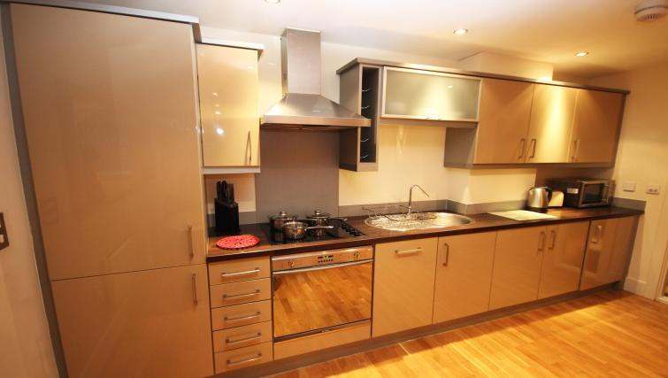 Kitchen at Merchants Quay Apartments - Citybase Apartments