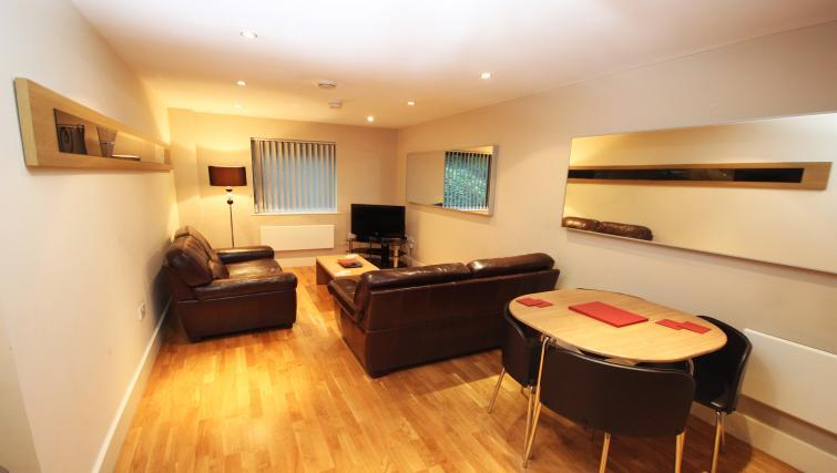 Living room at Merchants Quay Apartments - Citybase Apartments