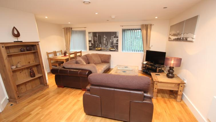 Living area at Merchants Quay Apartments - Citybase Apartments