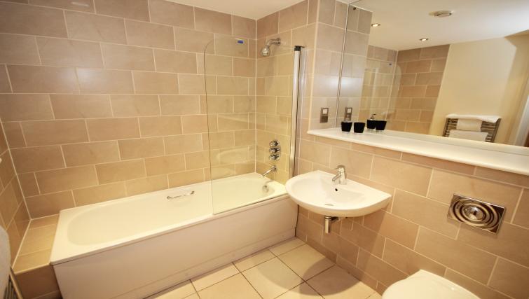 Bathroom at Merchants Quay Apartments - Citybase Apartments