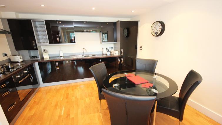 Modern kitchen at Merchants Quay Apartments - Citybase Apartments