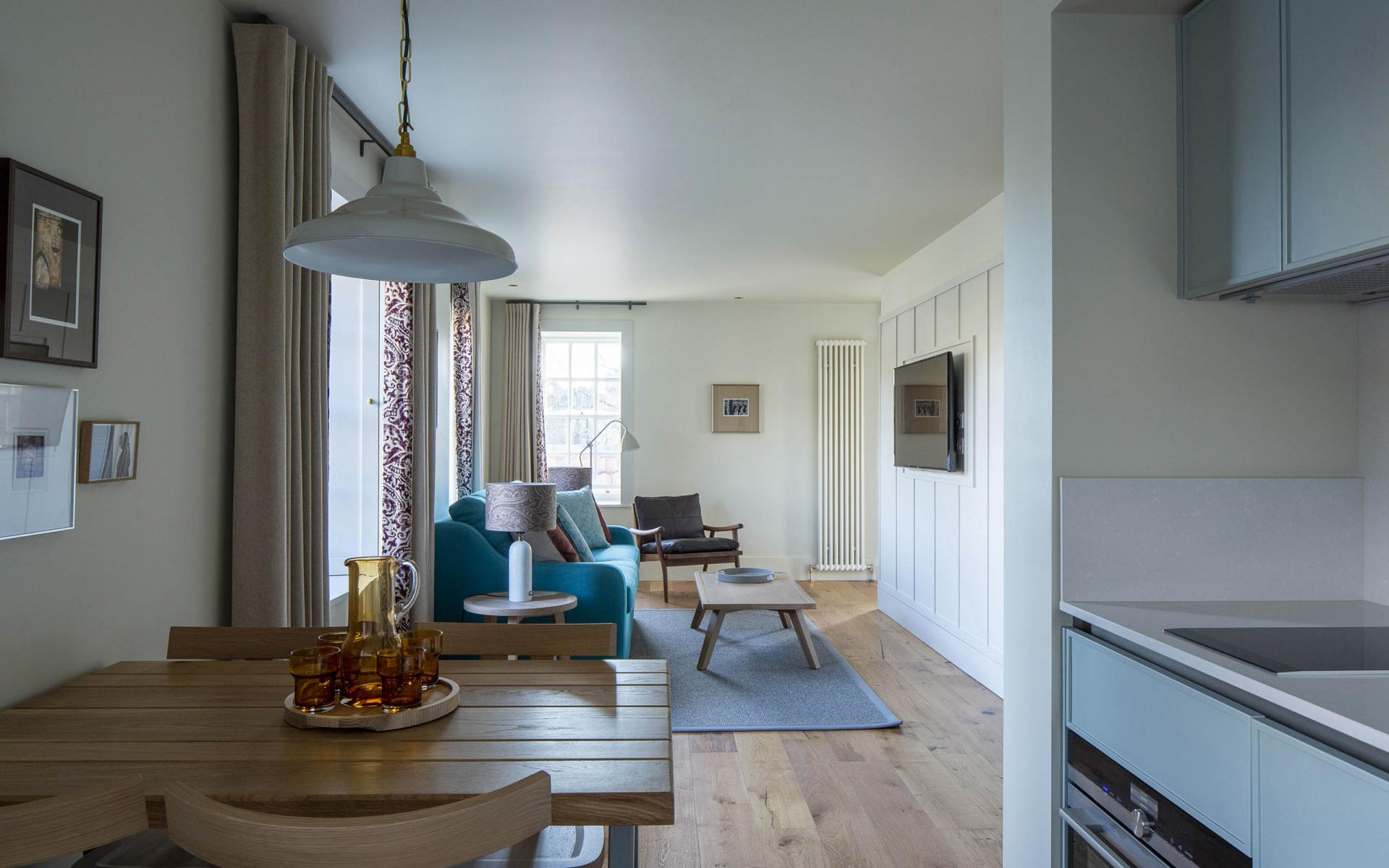 Living area at Cheval Abbey Strand, Old Town, Edinburgh - Citybase Apartments
