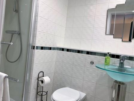 Shower at Clyde Waterfront Apartment - Citybase Apartments