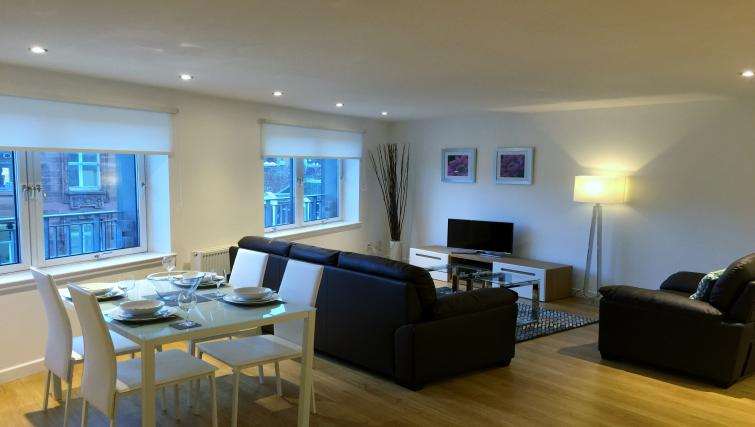 Open-plan living area at Tolbooth Apartments - Citybase Apartments