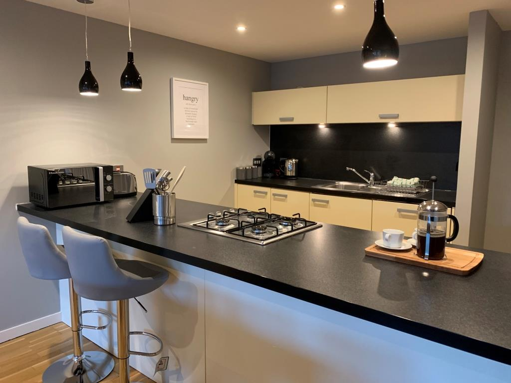 Kitchen area at Tolbooth Apartments - Citybase Apartments