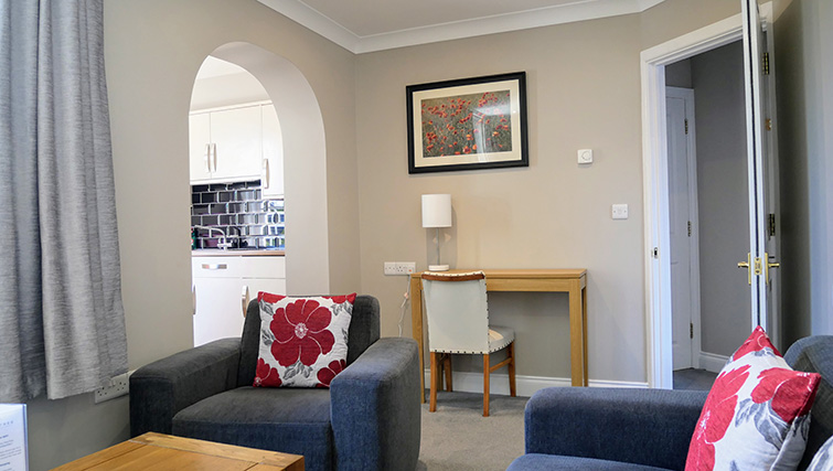 Living room at Peartree Serviced Apartments - Citybase Apartments