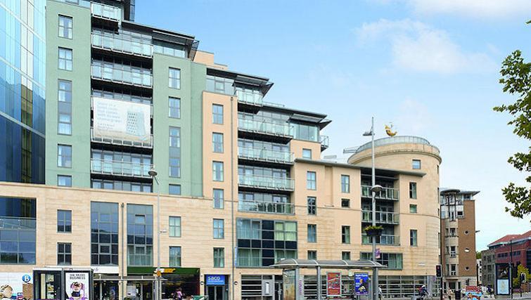 Pristine exterior of SACO Bristol - Broad Quay - Citybase Apartments