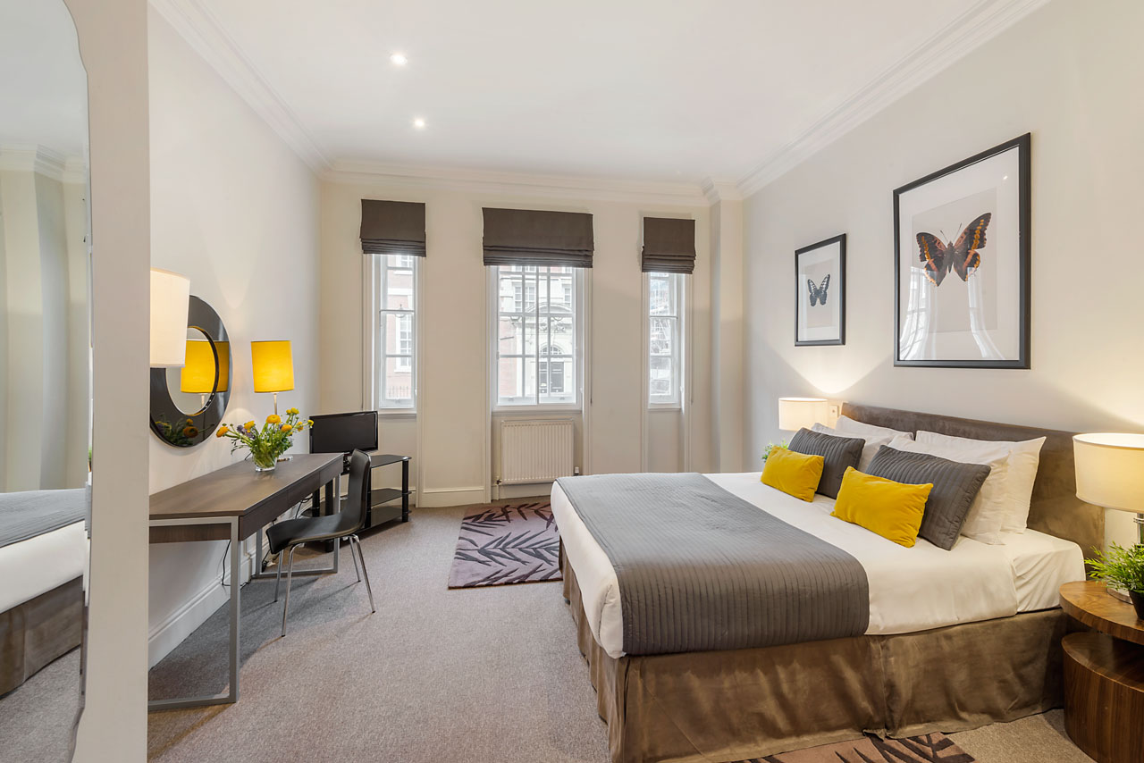 Bedroom at Chelsea - Draycott Place Apartments, Chelsea, London - Citybase Apartments