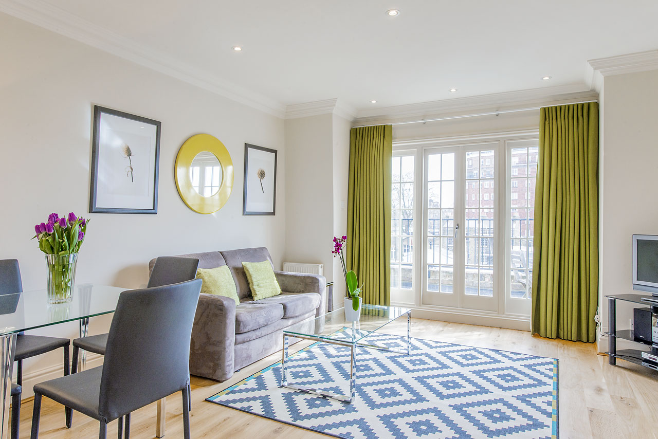 Dining area at Chelsea - Draycott Place Apartments, Chelsea, London - Citybase Apartments