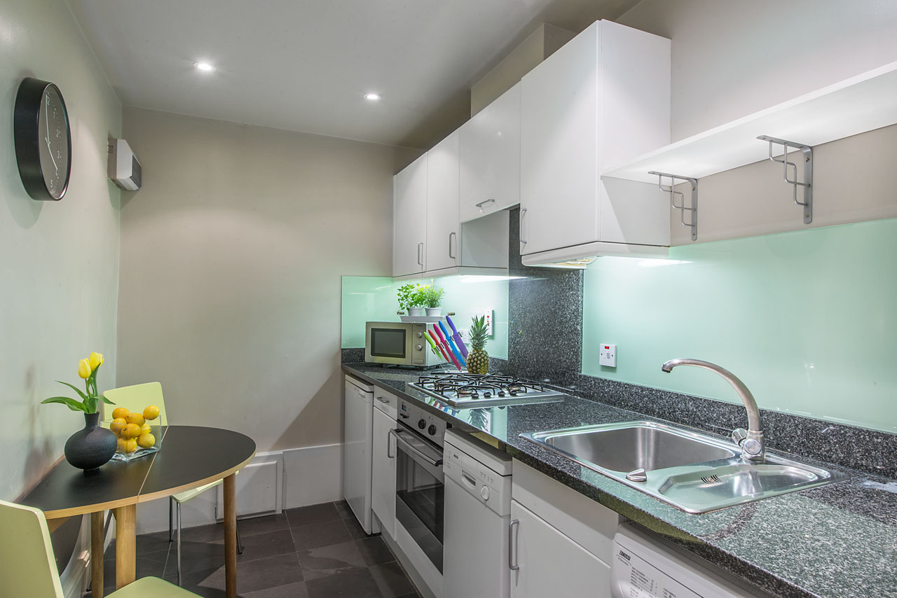 Modern kitchen at Chelsea - Draycott Place Apartments, Chelsea, London - Citybase Apartments