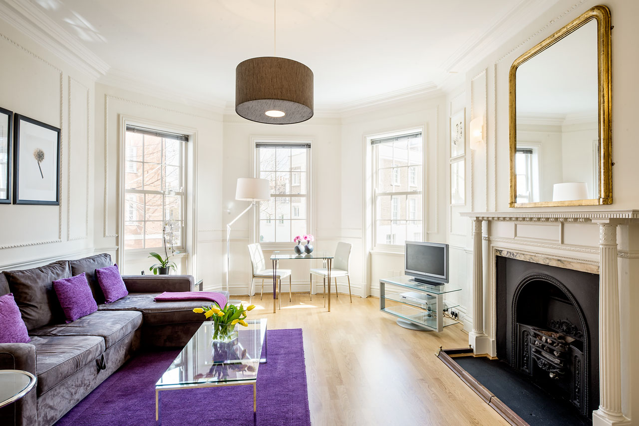 Fireplace at Chelsea- Sloane Avenue Apartments, Chelsea, London - Citybase Apartments