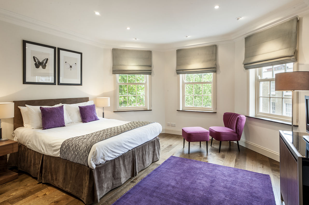 Bright bedroom at Chelsea- Sloane Avenue Apartments, Chelsea, London - Citybase Apartments