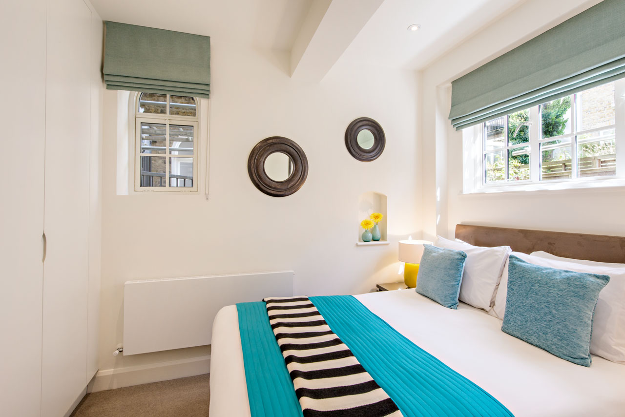 Bedroom at Chelsea - West House Apartment, Chelsea, London - Citybase Apartments