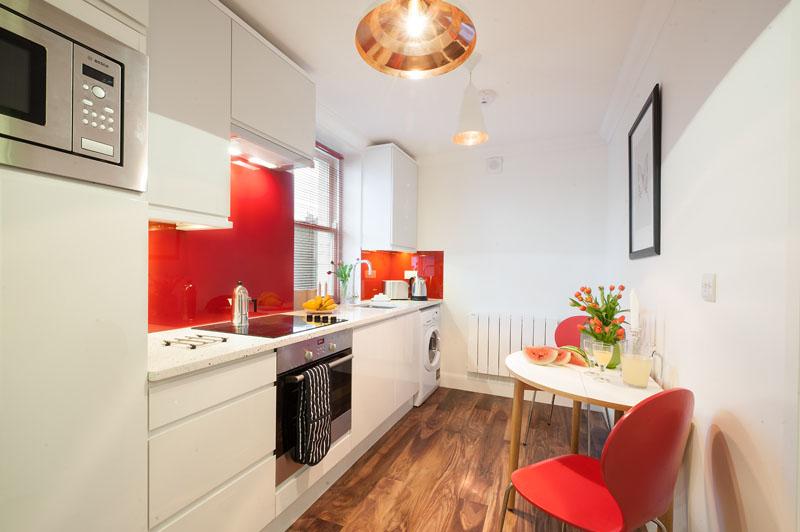 Kitchen diner atMarylebone - Chiltern Street Apartments, Marylebone, London - Citybase Apartments
