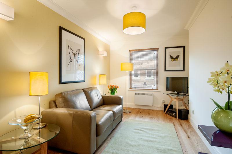 Sofa at Marylebone - Chiltern Street Apartments, Marylebone, London - Citybase Apartments