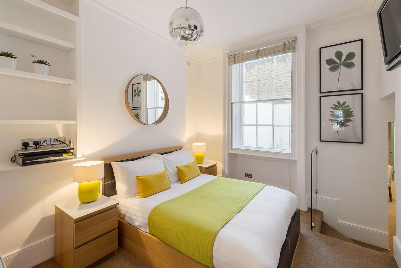 Bedroom at Marylebone - Gloucester Place, Marylebone, London - Citybase Apartments