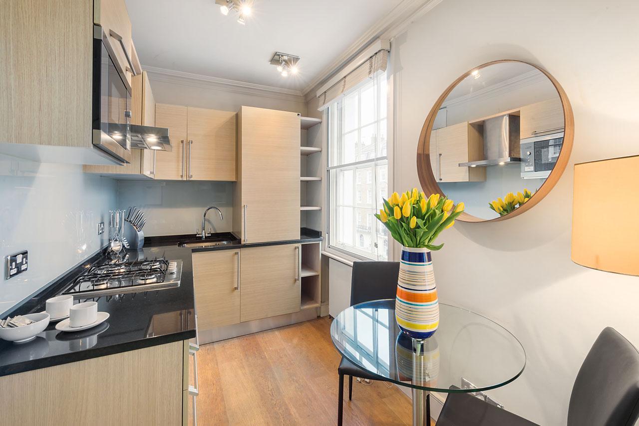 Kitchen diner at Marylebone - Gloucester Place, Marylebone, London - Citybase Apartments