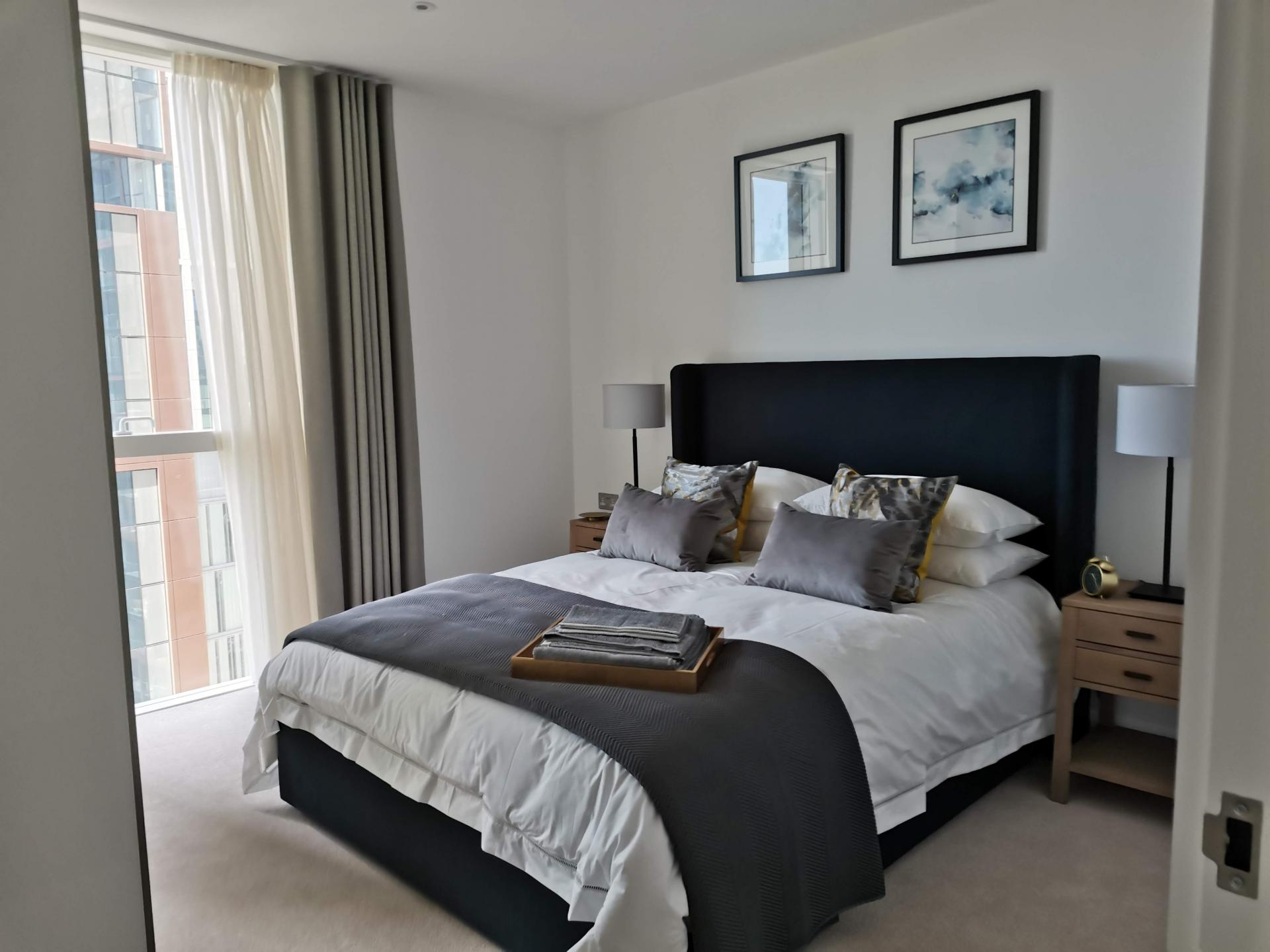 Bedroom at Charles Hope Canary Wharf, Canary Wharf, London - Citybase Apartments