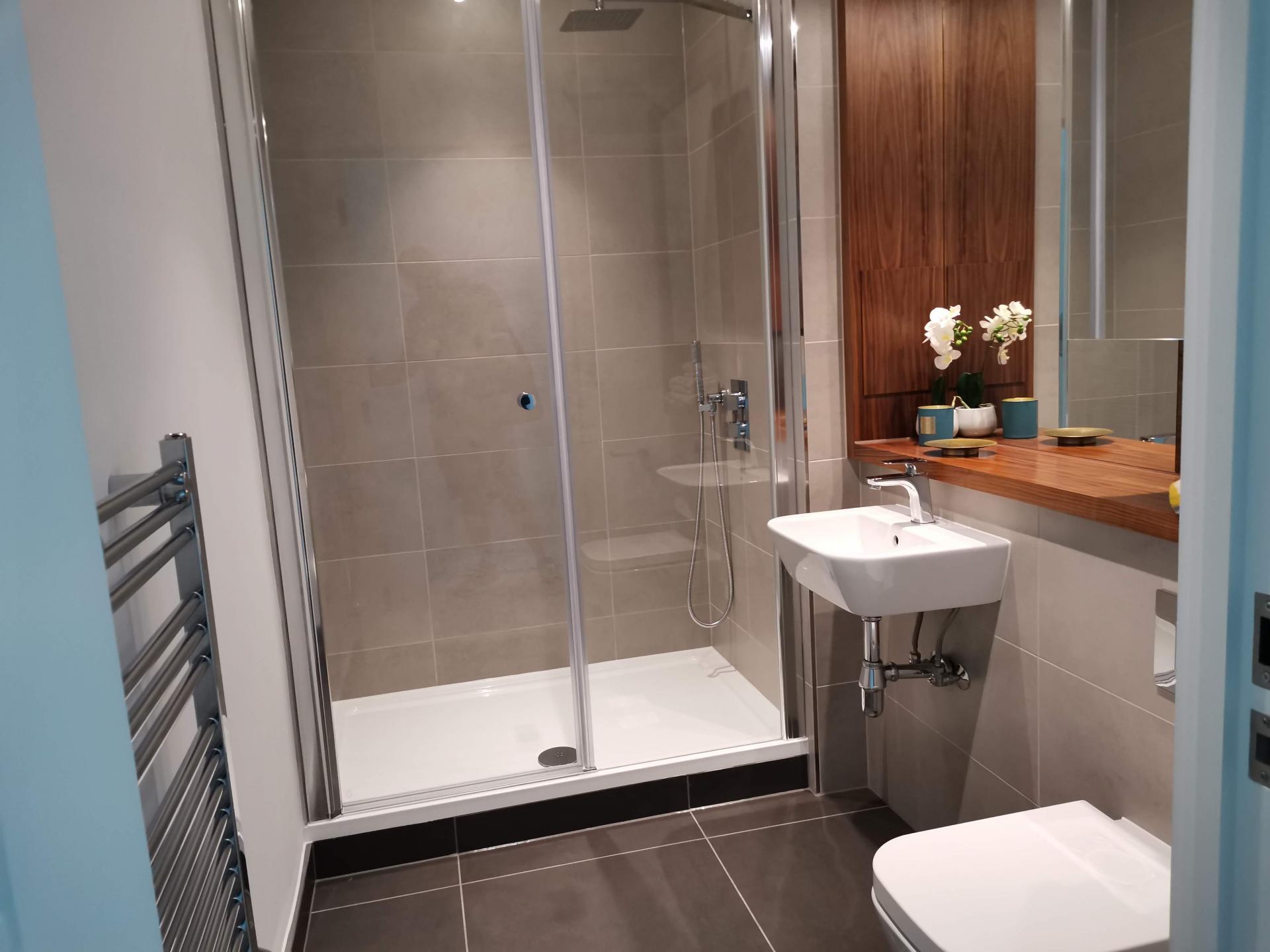Bathroom at Charles Hope Canary Wharf, Canary Wharf, London - Citybase Apartments