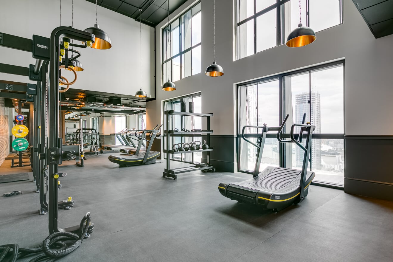 Fitness equippment at Charles Hope Canary Wharf, Canary Wharf, London - Citybase Apartments