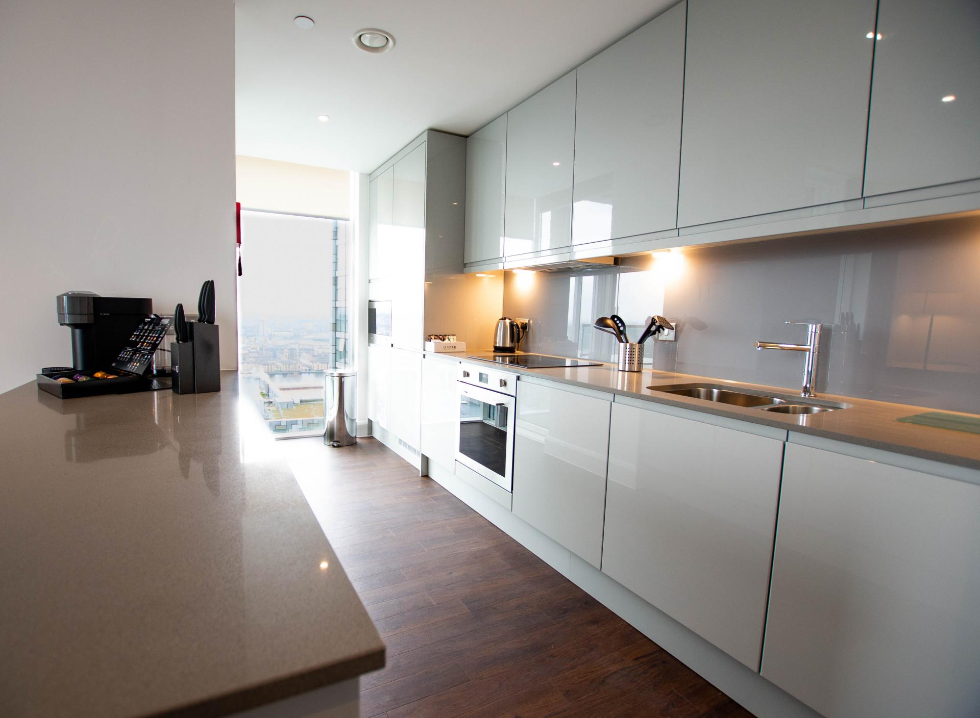 Kitchen space at Canary Wharf Apartments By Charles Hope, Canary Wharf, London - Citybase Apartments
