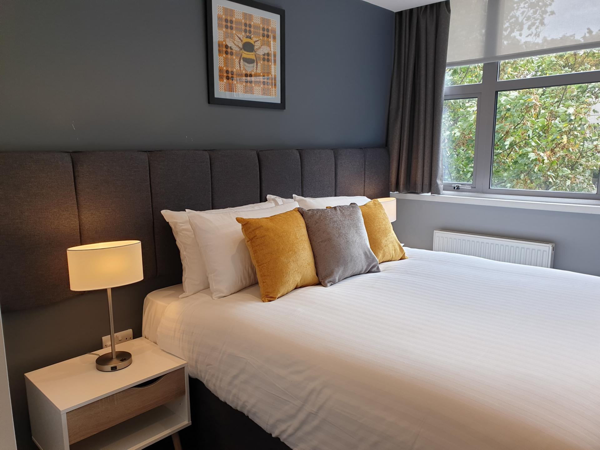 Bedroom at The Spires Cardiff, Centre, Cardiff - Citybase Apartments