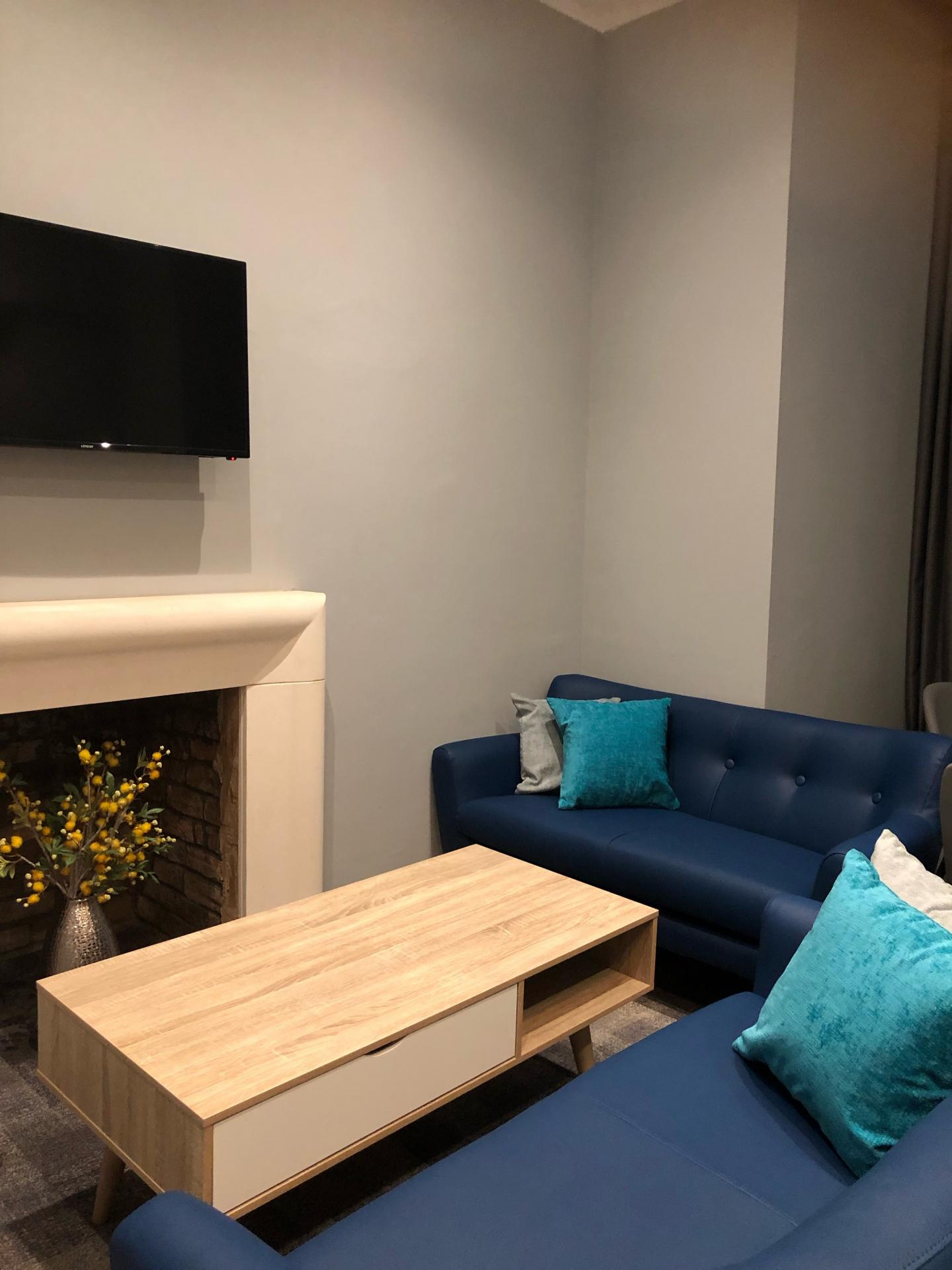 Lounge at The Spires Cardiff, Centre, Cardiff - Citybase Apartments