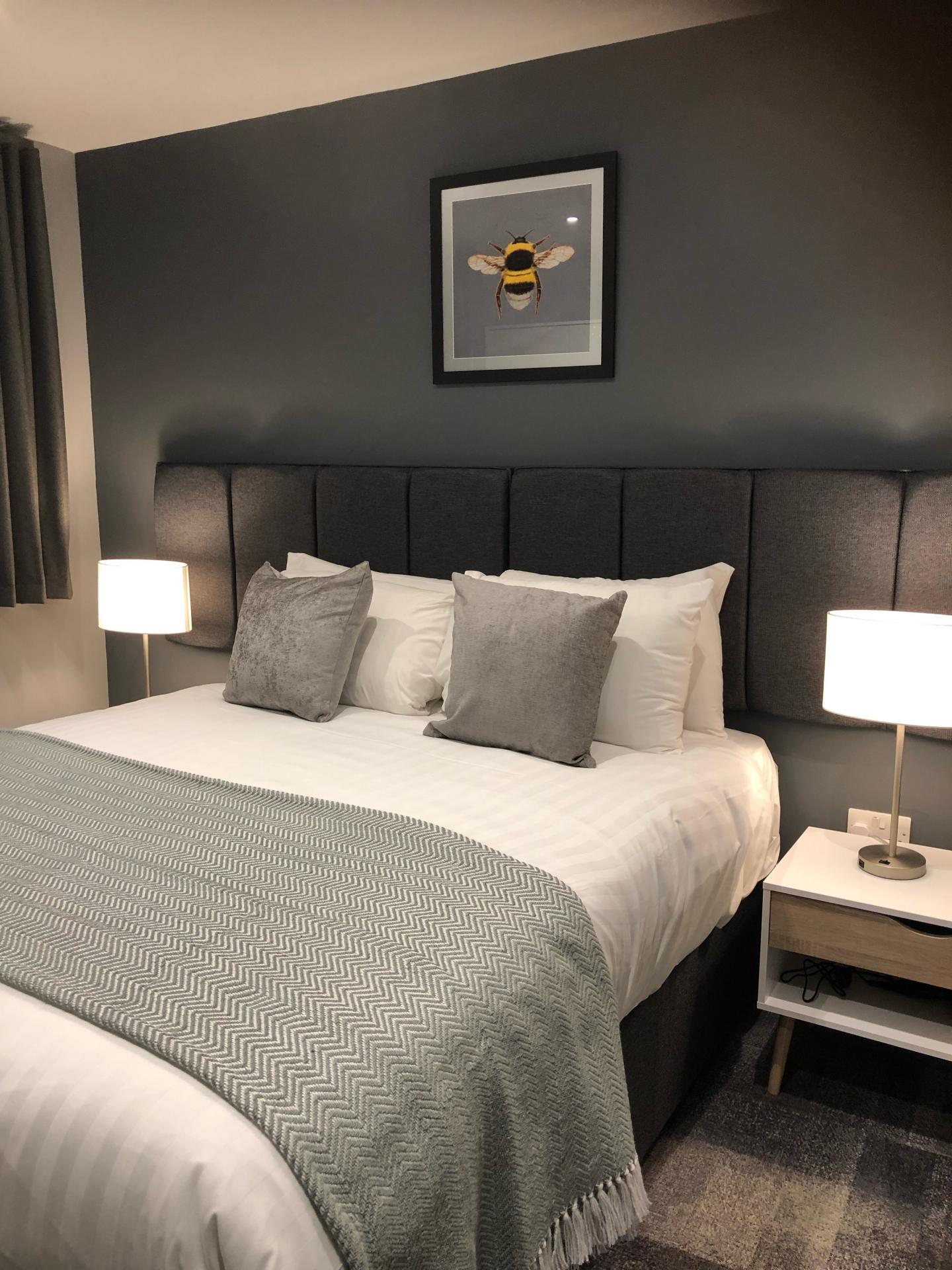 Table lamps at The Spires Cardiff, Centre, Cardiff - Citybase Apartments