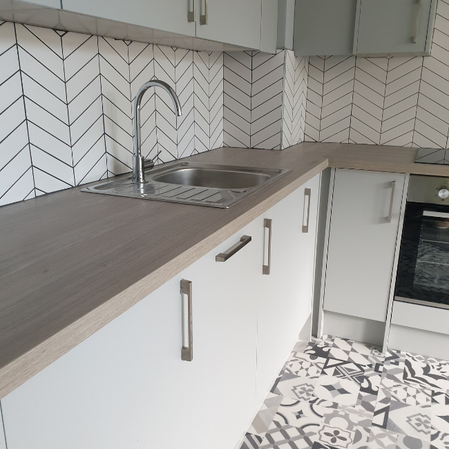Kitchen sink at  at The Spires Cardiff, Centre, Cardiff - Citybase Apartments