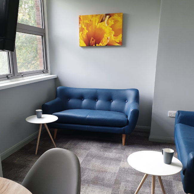 Bright sofa at The Spires Cardiff, Centre, Cardiff - Citybase Apartments